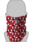 SNOOD NECK WARMER FACE MASK VESPA SHIELD TRIANGLE RED AND PURPLE DESIGN MADE IN YORKSHIRE