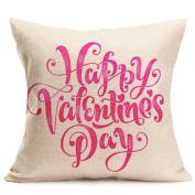 DDLBiz Sweet Lovers Couples Painting Linen Cushion Cover Throw Waist Sofa Bedroom Pillowcase