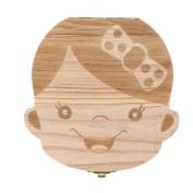 Sunbona Baby Tooth Box Organiser Milk Teeth Save Wood Storage Box Souvenir for kids Boy Girl