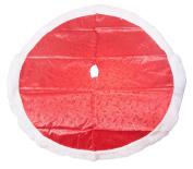 Red Sparkled Swirls Holiday Christmas Tree Skirt - 120cm