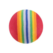 Hestio 10Pcs Golf Practise Balls Super Cute Rainbow Toy Ball for Small Dog Cat Pet Gift