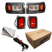 Club Car DS Golf Cart Headlight with LED Tail Light Kit 1993-Up