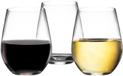 Vivocci Unbreakable Plastic Stemless Wine Glasses 590ml | 100% Tritan Heavy Base | Shatterproof Glassware | Ideal For Cocktails & Scotch | Perfect For Homes & Bars | Dishwasher Safe | Set of 2