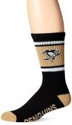 """Pittsburgh Penguins NHL 47 Brand """"Duster"""" Colorblocked Men's Crew Length Socks"""