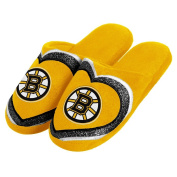 NHL Team Womens Glitter Slide Slippers - Pick a Team!