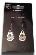 NHL Licenced Silver Tone Tear Drop Dangle Earrings