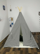 Sunny@new design white and black stripe kids play tent indian teepee children playhouse children play room teepee