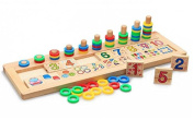 T-Juan MM Colourful Montessori Teaching Tool Math Number Wood Board Preschool Toy Kid