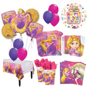 The Ultimate 8 Guest 53pc Princess Rapunzel Tangled Birthday Party Supplies and Balloon Decoration Kit