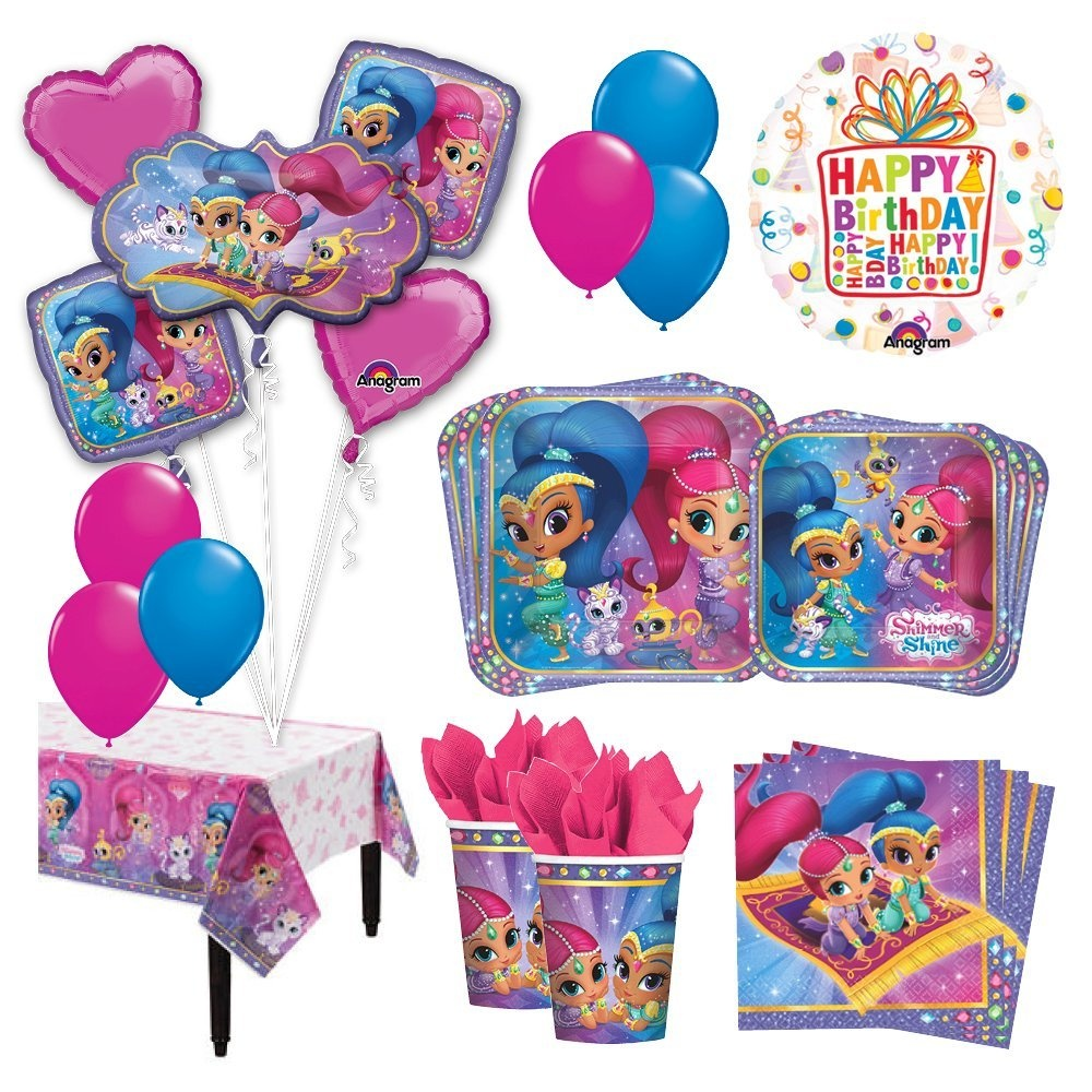 The Ultimate 8 Guest 53pc Shimmer And Shine Birthday Party Supplies