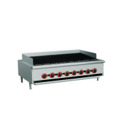 """EQ Commercial Stainless Steel Kitchen Countertop Gas pan stove 120cm x 80cm x 14"""""""