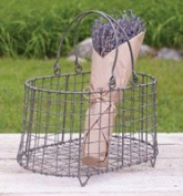 Decorative Wire Flower Basket with Handle