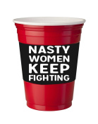 4 Pack of Vinyl Decal Stickers for Disposable Cups / Nasty Woman Keep Fighting March