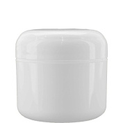 (12 pack) 120ml White Plastic Double Walled Jar with White Dome Cap