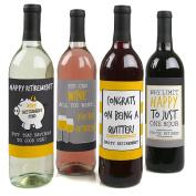 Retirement Party - Wine Bottle Labels - Set of 4