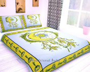 Traditional- Indian Hippie Sun Moon Bohemian Reversibal Mandala Bedspread Queen Quilt Coverlet Duvet Cover