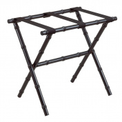 Black Bamboo Shaped Luggage Rack with Black Straps