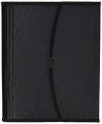 Smead Poly Pro Series II Pad Folio, 7-Pocket Expanding File, Letter Size, Black