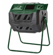 Exaco Trading Company Exaco Mr.Spin Compost Tumbler - 160 Litres / 43 gallon, Dual Chamber Composter On Two-Leg Stand