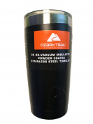 Ozark Trail Vacuum Insulated Powder Coated Stainless Steel Tumbler Black 590ml