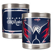 NHL Stainless Can Holder Set with Metallic Graphics