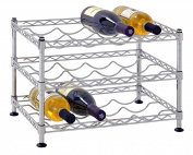 Muscle Rack WBS181212 12-Bottle Chrome Wine Rack, 46cm by 30cm , 30cm Height, 46cm width, 150kg Load Capacity