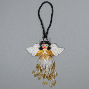 Two Radiant Angel Glass Bead Assorted Christmas Decorative Tree Hanging Ornament
