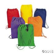 Small DIY Colourful Canvas Drawstring Backpacks
