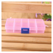 FTXJ Rectangle 10 Grids Jewellery/Beads/Pills/Nail Art Tips Storage Box Case