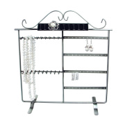 Mooca Antique Silver Jewellery Stand Holder Organiser and Earring Hanger