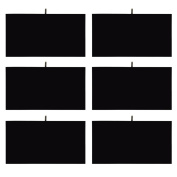 Mooca 6 Pieces Black Velvet Cover Padded Wood Jewellery Display Pad Tray Inserts 36cm L x 19cm W