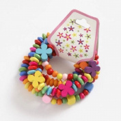 Set of 5 Wooden Bead Bracelets for Children