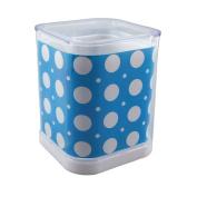 Honbay Sky Blue White Dot Plastic Detachable Pencil Pen Holder Desk Container Organiser