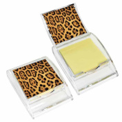 Leopard Print Sticky Note Holder - Wildlife Animal Theme Design - Stationery Gift - Office Business School Supplies