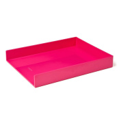 Poppin Single Letter Tray, Pink
