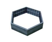 Exaco Trading Company Exaco 645100 Modern Modular Raised Bed - Hexagon Shape 2 Panels High