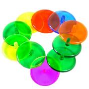 Gracefulvara 100Pcs Plastic Transparent Golf Ball Position Markers Mark Assorted Colour
