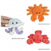Three (3) Adorable SEA LIFE 13cm Plush - Red LOBSTER, Orange CRAB & Blue JELLYFISH Toys BEANIE Stuffed Animals STOCKING Stuffers GIFTS
