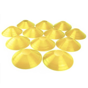 Set of 12 Soft Plastic Field Disc Cones by Crown Sporting Goods