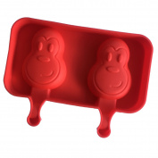 Always Your Chef 2-Cavity Silicone Monkey Pop Moulds Popsicle Moulds Reusable Ice Pop Maker Jello Moulds Chocolate Candy Moulds