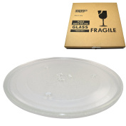 HQRP 10-inch Glass Turntable Tray for JcPenney 3517203600 Microwave Oven Cooking Plate 255mm + HQRP Coaster