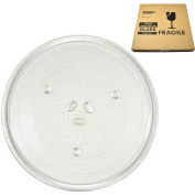 HQRP 10-inch Glass Turntable Tray for Magic Chef 2036 203600 MCB770 MCB770B MCB770W MCB780 MCB780W MCD760 MCD760W MCD770 MCD770RW MCD770ST1 MCD790 Microwave Oven Cooking Plate 255mm + HQRP Coaster