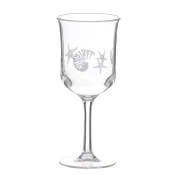 Clear Goblet With Etched Seashells