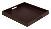 Simply Bamboo Espresso Brown Bamboo Wood Square Serving Tray, 41cm L x 41cm W