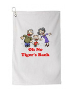 Oh No Tiger's Back Novelty Golf Towel Golfers Accessories Cleaning Tool