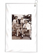 Ben Hogan Sits With Bobby Jones And (Back) Jimmy Demaret And Byron Nelson Novelty Golf Towel Golfers Accessories Cleaning Tool