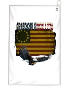 American Freedom Since 1776 Novelty Golf Towel Golfers Accessories Cleaning Tool