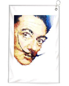 Salvador Dali Novelty Golf Towel Golfers Accessories Cleaning Tool