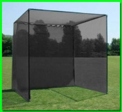 Dura-Pro 3m(d) x 3m(h) x3m(w) Golf Cage Golf Net With High Velocity Strong Impact Netting, High Impact Double Back Stop and Target. This is the Commercial Grade Cage