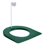 MUXSAM 1Pc Golf Putting Green Regulation Cup Hole Flag Indoor Practise Training Aids